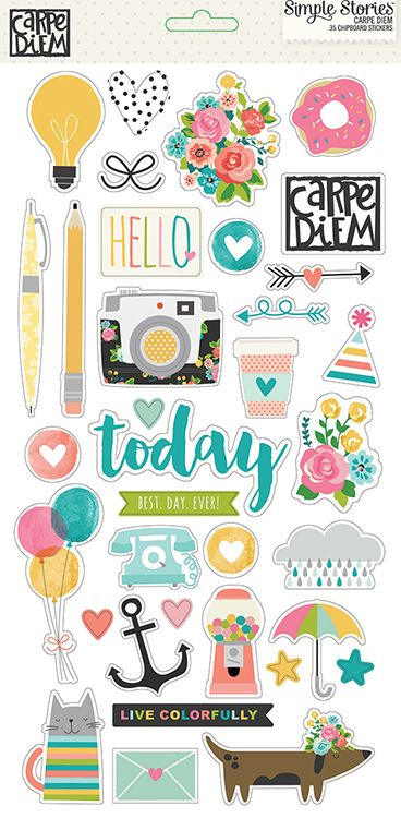 Simple+Stories+-+Carpe+Diem+Collection+-+Chipboard+Stickers+at+Scrapbook.com