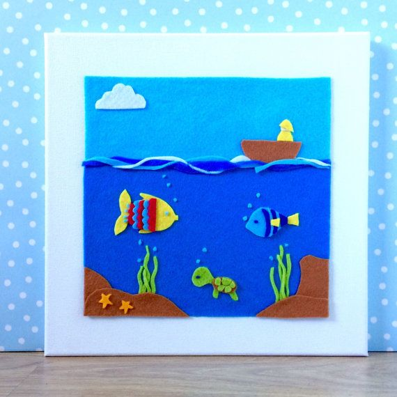Under the Deep Blue Sea Picture with Fish and by BunbyAndBean bunbyandbean.etsy.com
