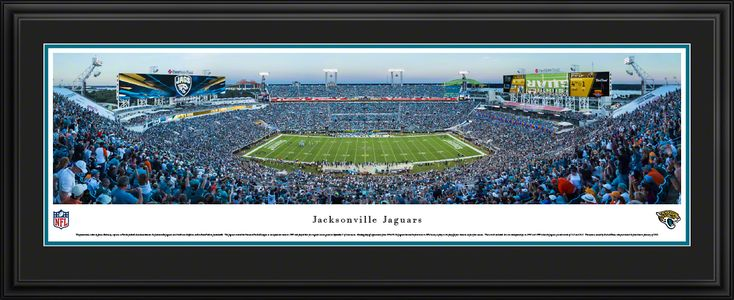 Jacksonville Jaguars Panoramic Picture - EverBank Field - Deluxe Frame $199.95