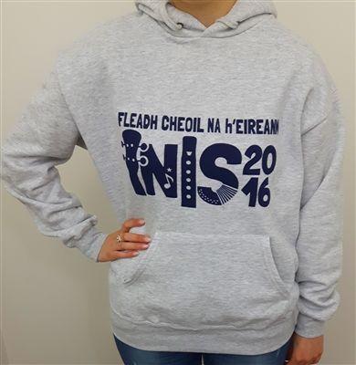 Fleadh Inis 2016 Merchandise - celebrate Fleadh Cheoil na hÉIireann coming to Ennis in style! Heather Grey Hoodie €25 WowWee.ie