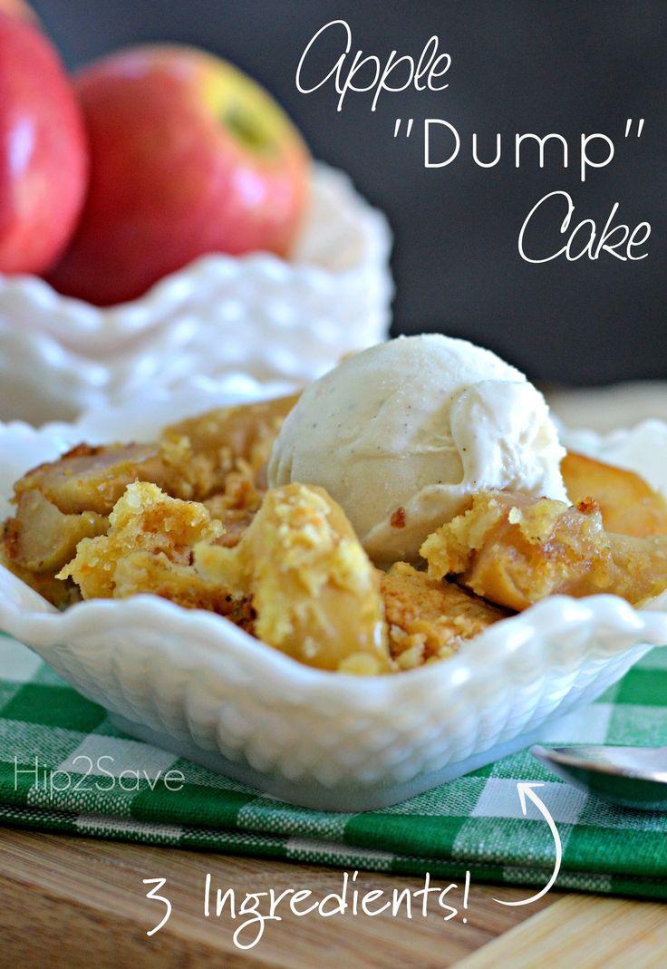 "Easy 3 Ingredient Apple ""Dump"" Cake – Hip2Save. Enjoy this wonderful dessert this week!"