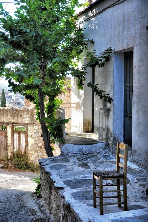 A Chair in Parikia, Paros, Greece