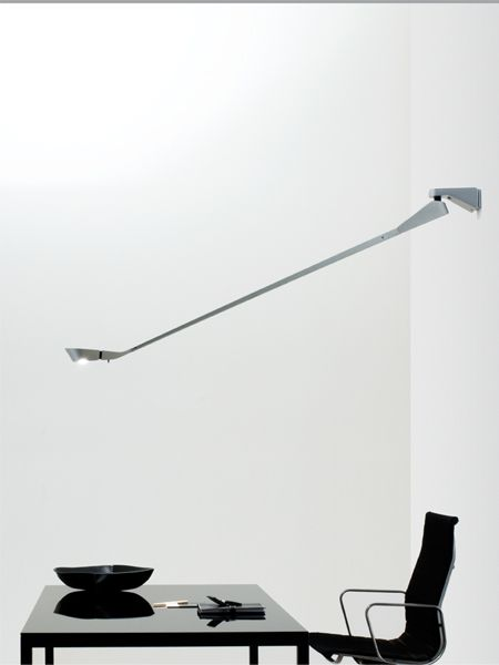 #D7's #walllamp innovative product type and technology comprises a long tilting arm designed to be placed in any position to focus light wherever it is required. Light and perfectly balanced, it makes the most of the entire light beam to offer a dual lighting choice: upwards for indirect light and downwards for light focused on the work surface.  http://www.luceplan.com/Prodotti/1/2/142/D7