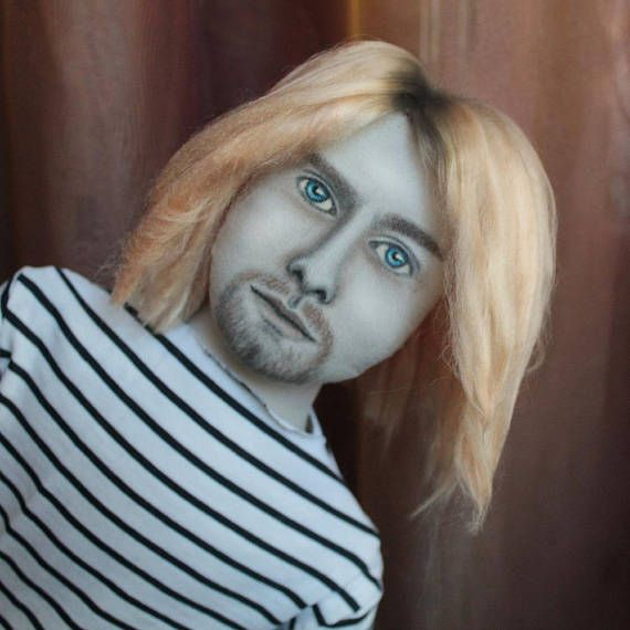 kurt cobain doll Portrait doll, personalized doll, likeness doll from picture, unique birthday gift