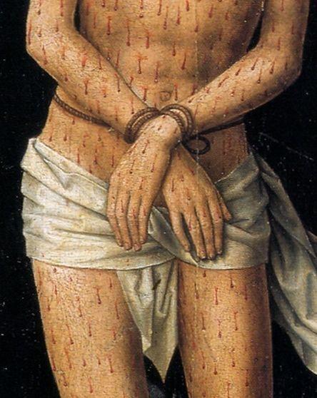 Hans Memling Christ at the column detail
