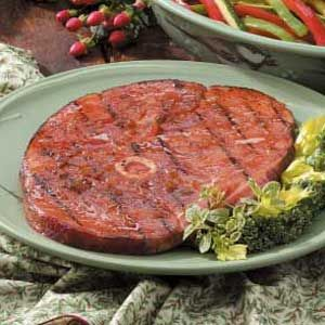 Tangy Grilled Ham Steak Recipe
