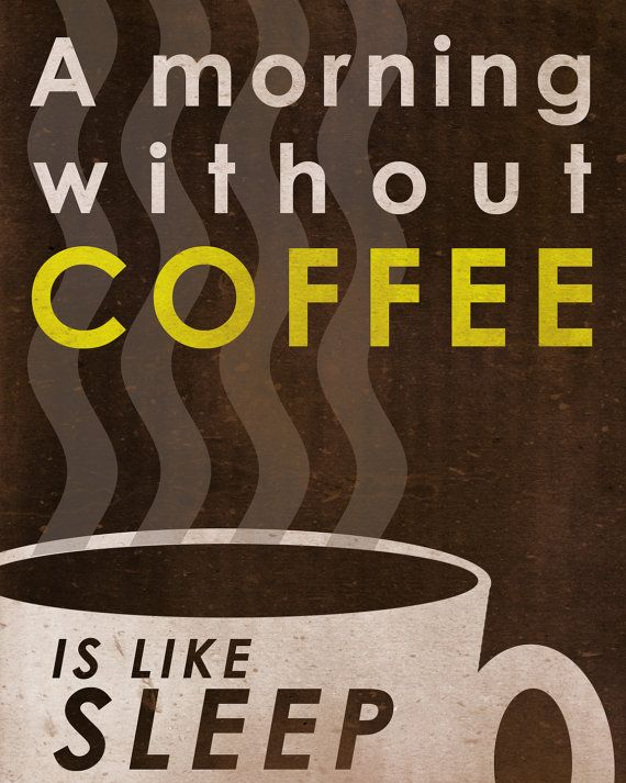 Coffee art / Coffee poster / Coffee print - Cheap art decor for your kitchen or bar