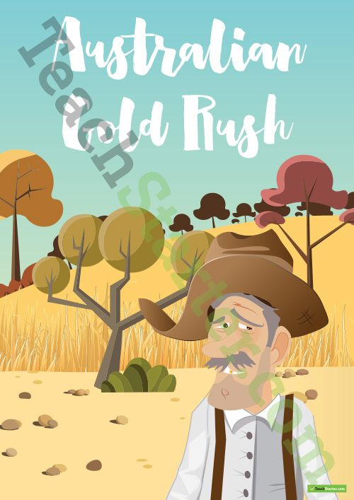 Teaching Resource: 27 pages of worksheets, posters and classroom decorations about the Australian Gold Rush Era.