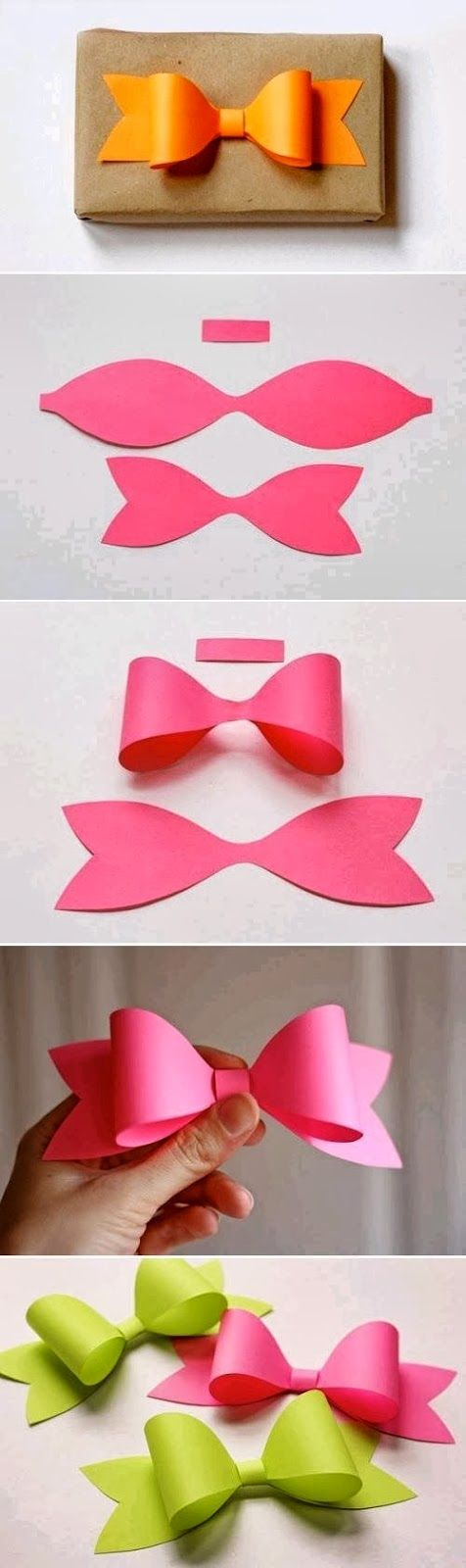 Handmade paper bows, so cute!