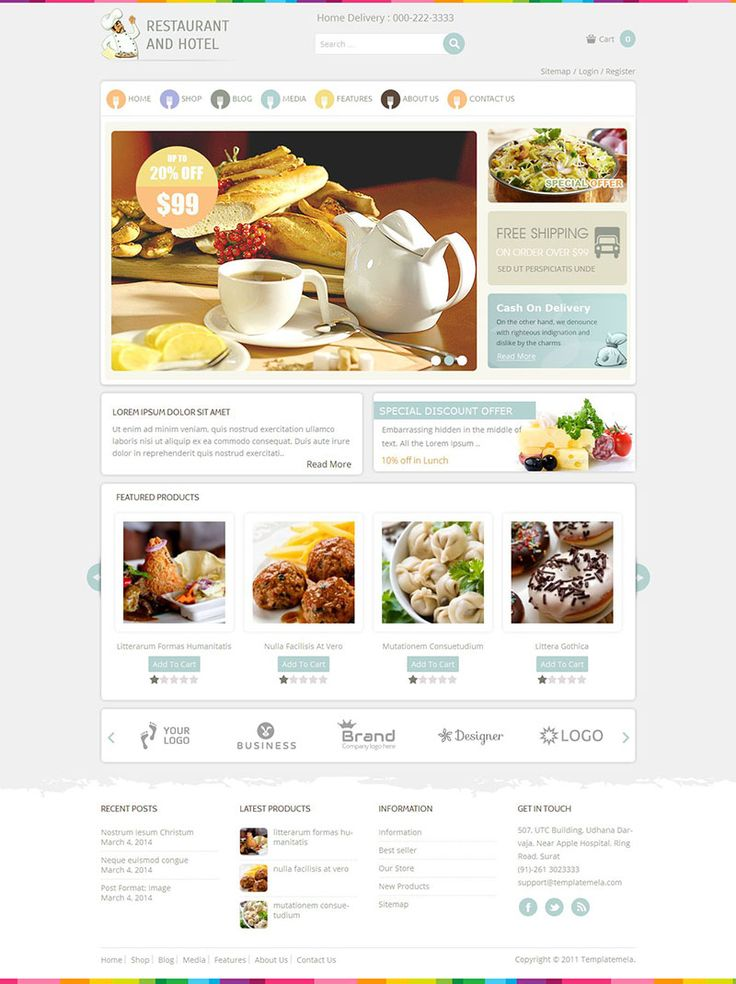 Restaurant - Responsive #WordPress eCommerce Theme for your Restaurants, Food Stores, etc. http://www.themesandmods.com/premium-wordpress-themes/restaurant-3/