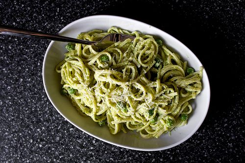 Linguine with pea pesto from Smitten Kitchen. Sometimes I make a big ...