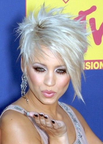Kimberly Wyatt asymmetrical hairstyles