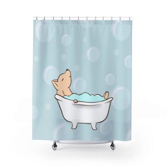 Chihuahua Shower Curtain Dog Shower Curtains Bath Curtain