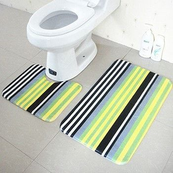 Nice High Quality Anti-Slip Antibacterial Soft 2-PC Floor Bath Mat Set 8 Designs