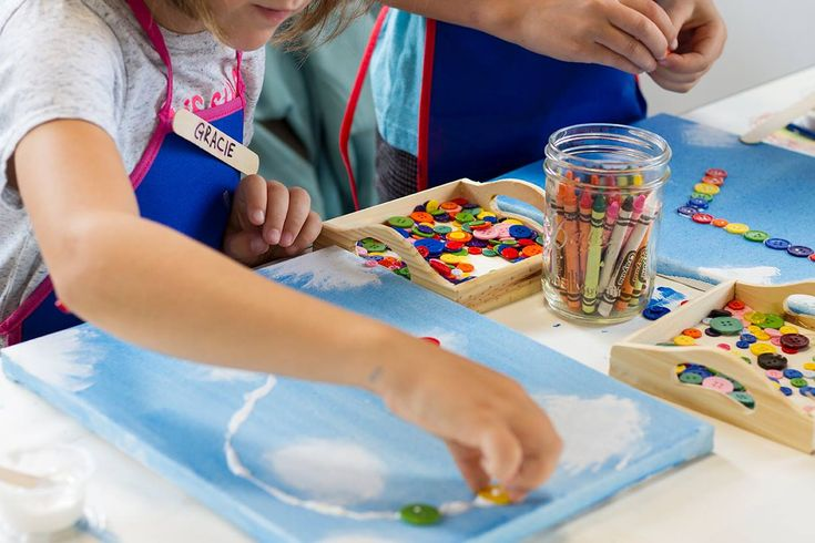 DIY Button Art Projects for kids
