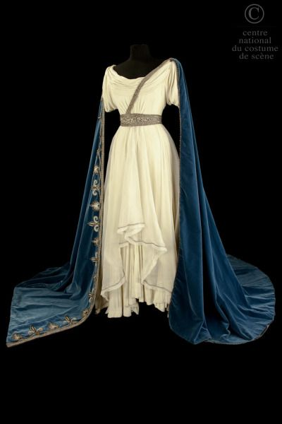 Costume designed by Marcel Escoffier for Maria Callas in the Paris Opera's 1964 production of Vincenzo Bellini's Norma