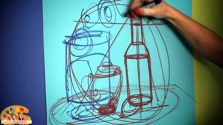 Уроки живописи маслом от Ольги Базановой: построение натюрморта в простр...