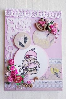 Beccapysslar: Pink Babycard