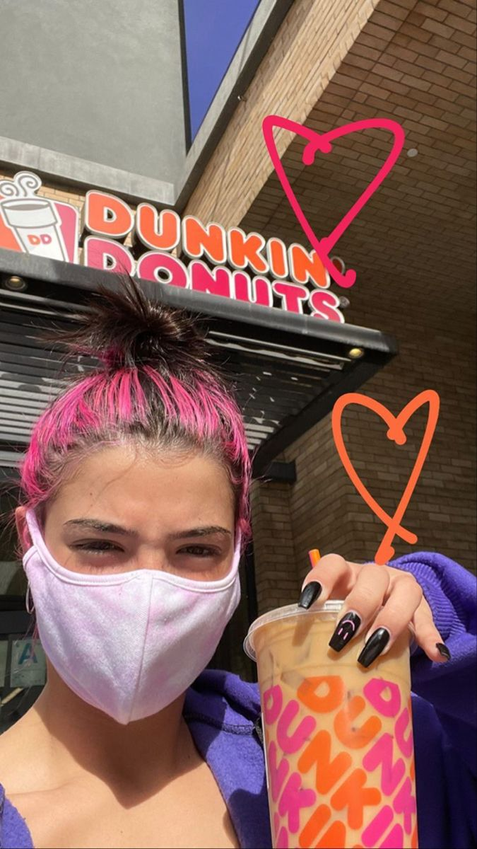Pin By Hi On Charli Damelio Dunkin The Most Beautiful Girl Dunkin Donuts
