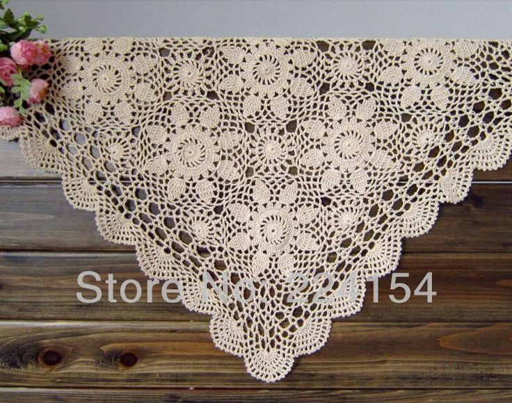Aliexpress.com : Buy 55x55CM Square Floral Table Topper Hand Crocheted  Tablecloth Free Shipping!