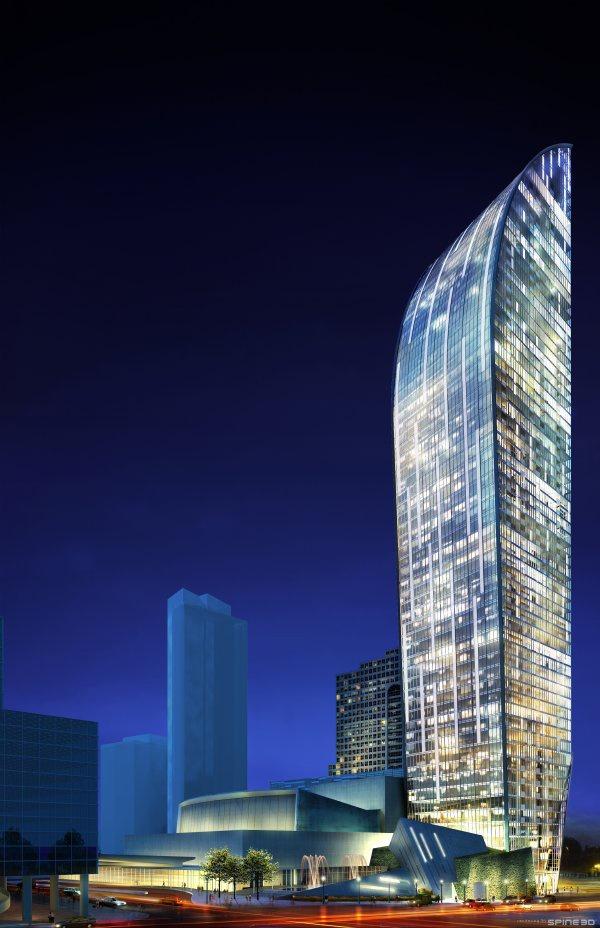 L Tower in Toronto by Daniel Liebskind