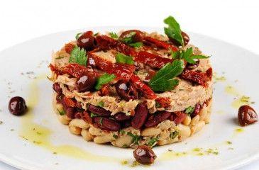 Салат с тунцом - пошаговые рецепты с фото. Как приготовить вкусный салат из консервированного и жареного тунца