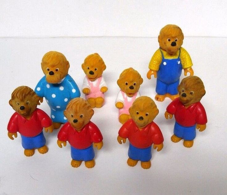 Vintage The Berenstain Bears Toy Lot Figures McDonalds 1986 8 Pc Collectibles #McDonalds
