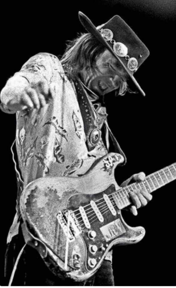 Stevie Ray Vaughn - Member of The Man! Order ( Order of people that use a guitar and makes us feel goosebumps all over our bodies)