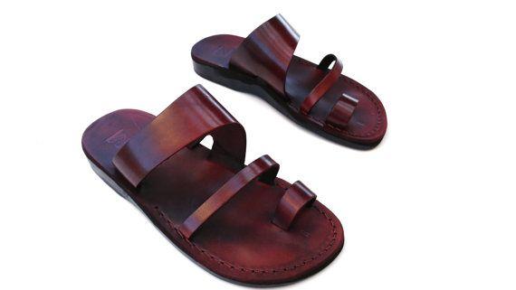Leather Sandals, Mens sandals, Mens leather sandals, Men sandals, TRIPLE, Jesus Sandals, Flip Flops