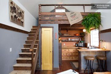 The Rustic Modern Tiny House eclectic kitchen
