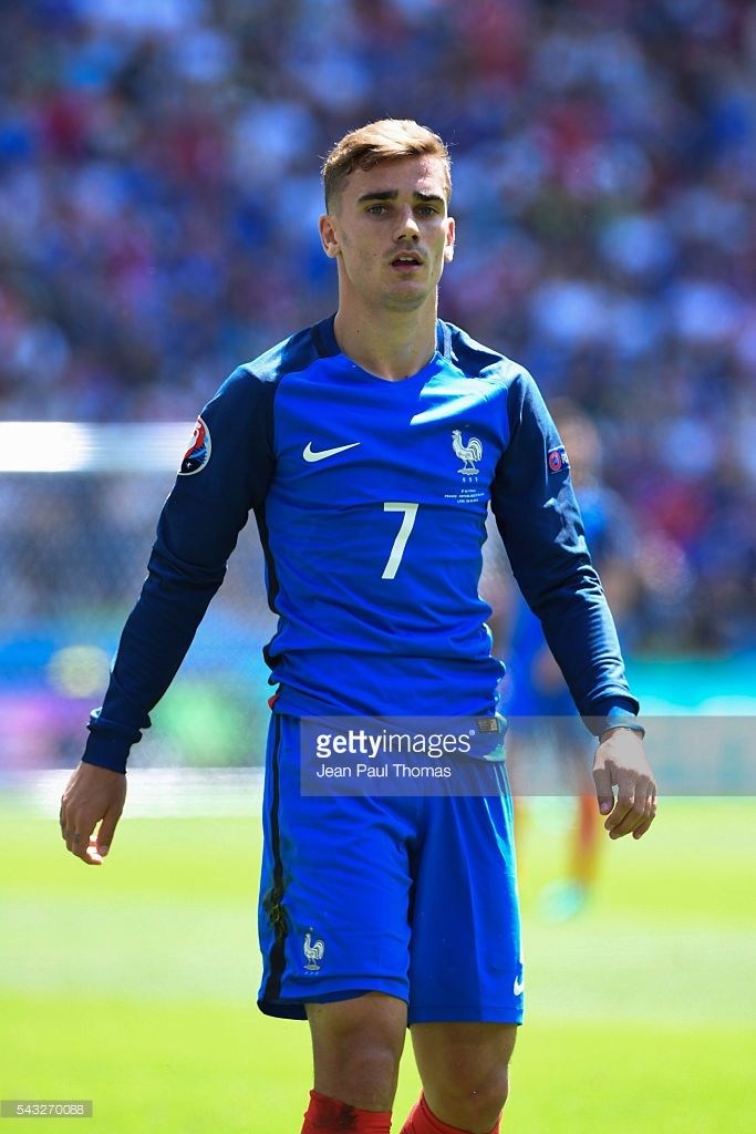 Antoine Griezmann of France during the European Championship match Round of 16 between France and Republic of Ireland at Stade des Lumieres on June 26, 2016 in Lyon, France.