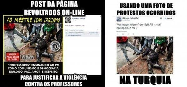 revoltados online mentira facebook professores 'Revoltados Online' mentem para difamar professores do Paraná