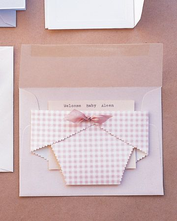 diaper pocket card; new baby card or birth announcement