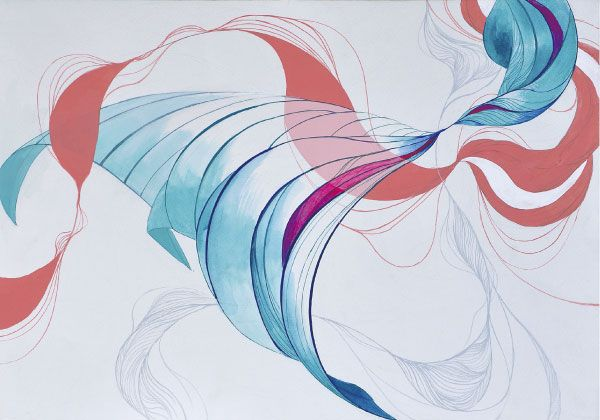 風のイメージを色彩表現しなさい。