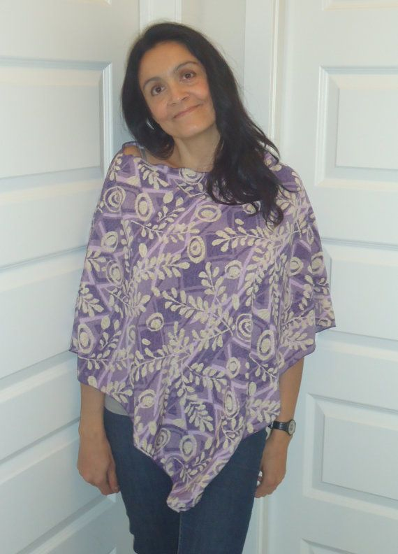 Beach Poncho ON SALE Nursing CoverLavender cream by UchiWraps