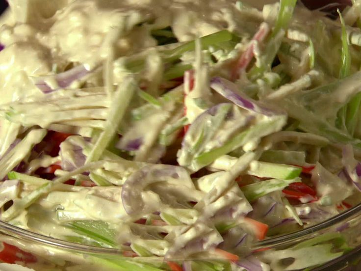 Broccoli Stem and Carrot Slaw from FoodNetwork.com