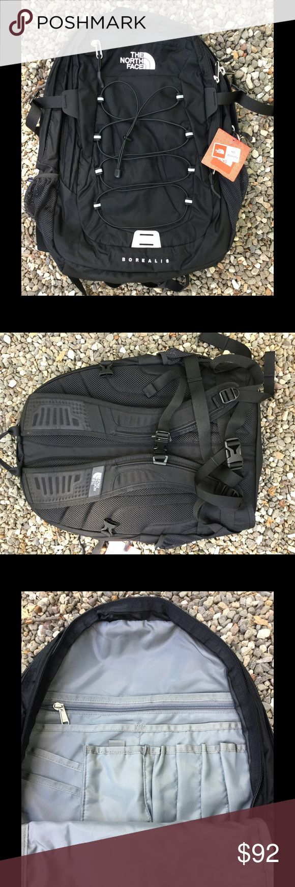 North Face men's unisex Borealis backpack Blk new The North Face men's unisex Borealis Backpack, book bag , daypack. Laptop case. Guaranteed genuine and authentic. New with tags. TNF BLACK.  No trades and only reasonable offers will be entertained. The North Face Bags Backpacks