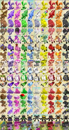 animal jam plushie chart | click for full size and please don t use it