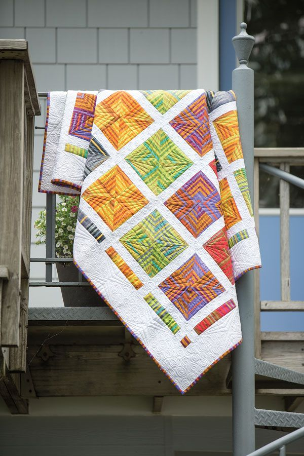 Quilt Patterns Using Stripe Fabric : 135 best Quilting with Striped Fabric images on Pinterest Quilting ideas, Patchwork quilting ...