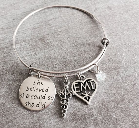 Emergency medical technician EMT Charm Gift for medic by SAjolie