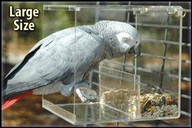 Amazon.com: Tidy Seed No-Mess Bird Feeder (LARGE) parrot toy toys breeder canary cockatiel finch: Pet Supplies A must have for any bird lover.