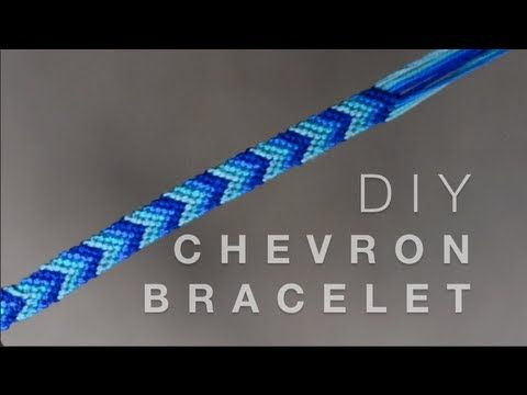 DIY Chevron Friendship Bracelet - YouTube