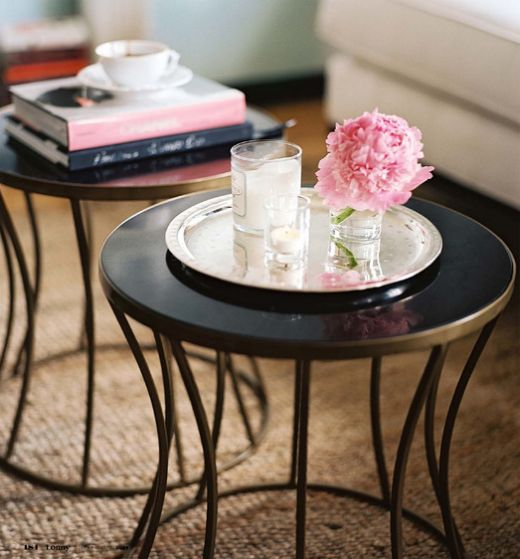 Nate Berkus: smaller round tables instead of a standard coffee table are better for small spaces.