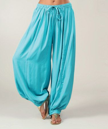 This Turquoise Harem Pants by Aller Simplement is perfect! #zulilyfinds love these for pj bottoms