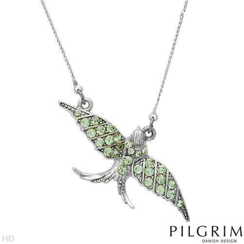 PILGRIM Halsband Grön Fågel
