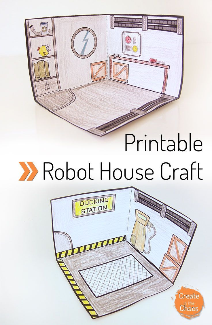 Paper Craft Ideas For Kids Free Part - 37: Printable Robot House. Easy Kids CraftsCraft ...