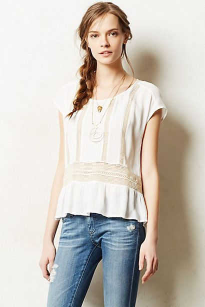 channeled lace peplum top / anthropologie