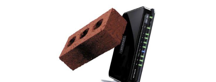 Herstel bricked Router