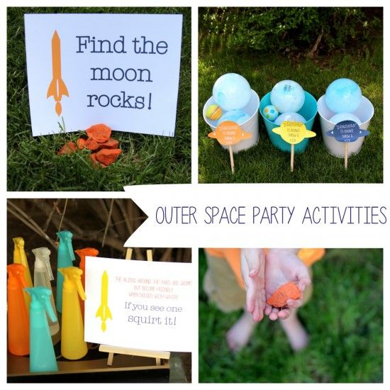 Bouncy ball activity for toddlers, great for first or second birthdayouter space party activities on onecharmingparty.com #outerspaceparty