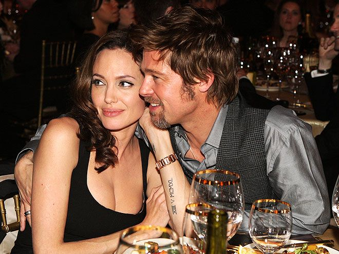 SWEET CHEEKS   photo | Angelina Jolie, Brad Pitt